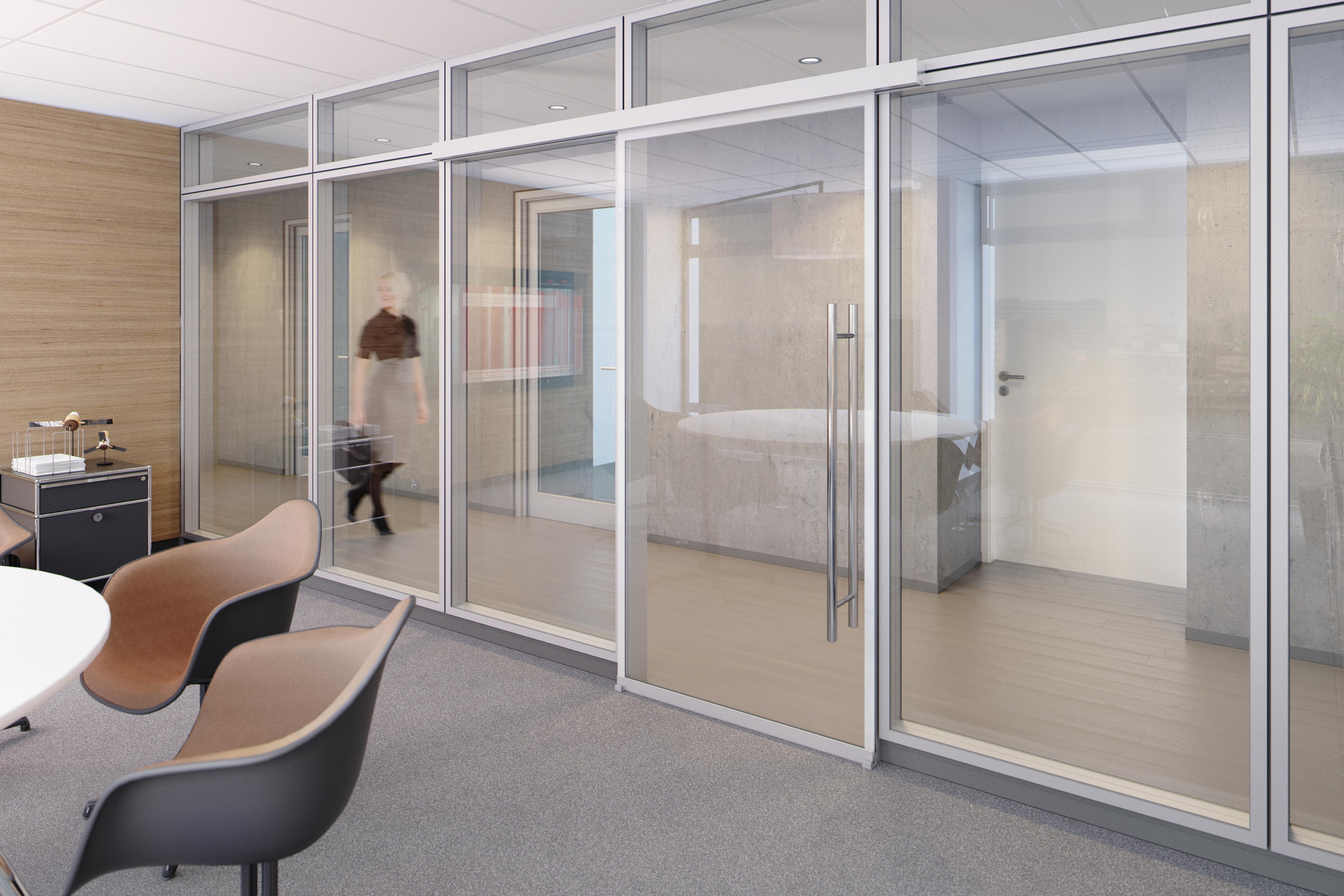 ganzglas schallschutz schiebet r. Black Bedroom Furniture Sets. Home Design Ideas